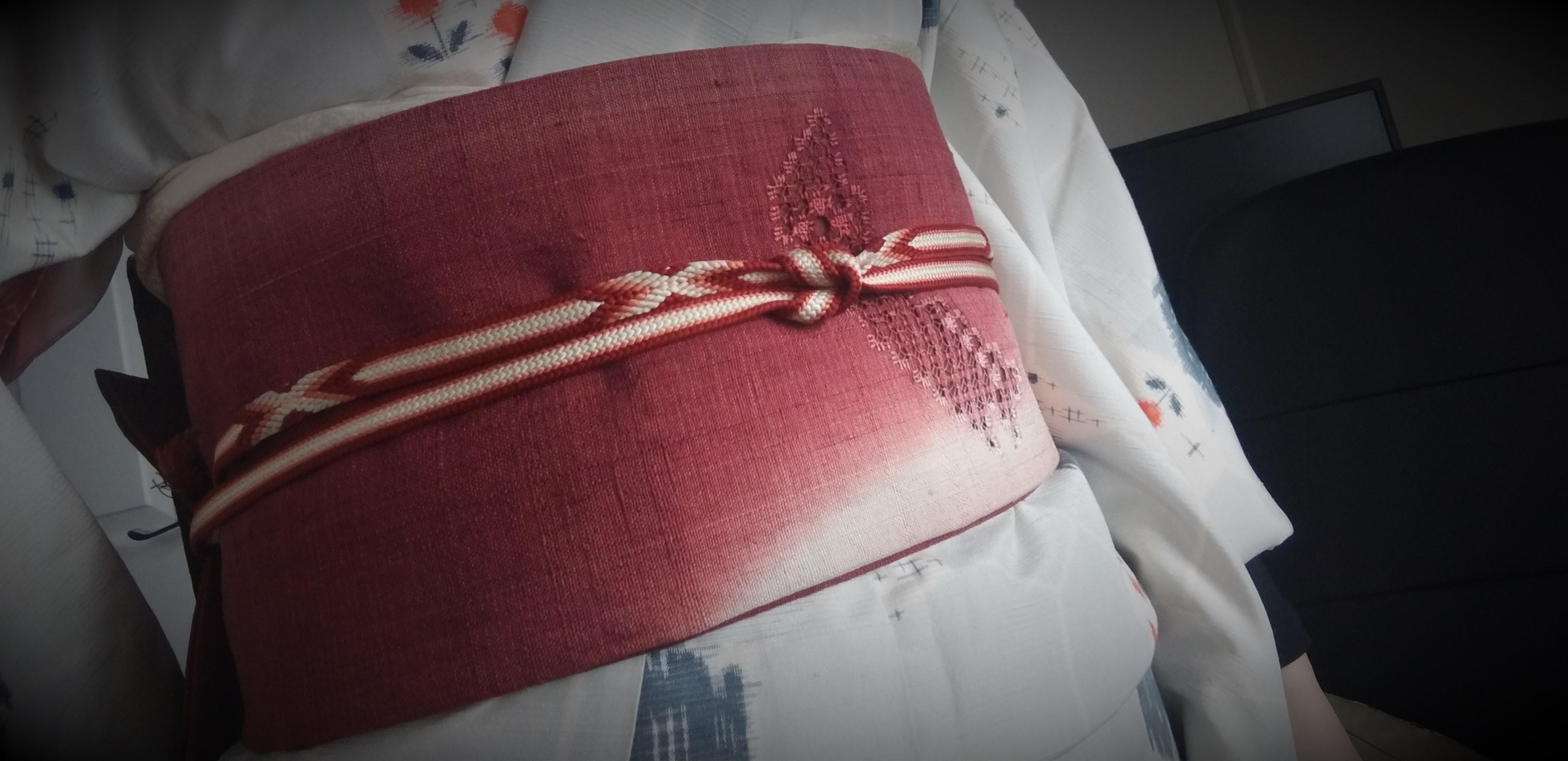 母の紬を着る2