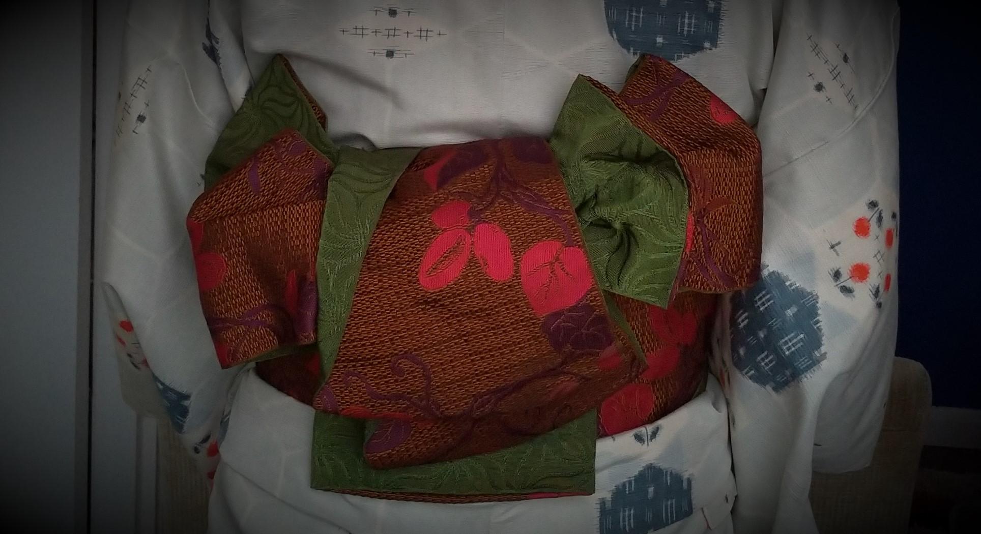 母の紬を着る8