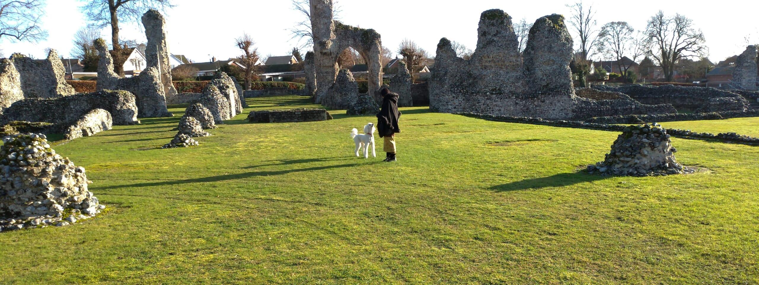 着物でお散歩3-Thetford Priory