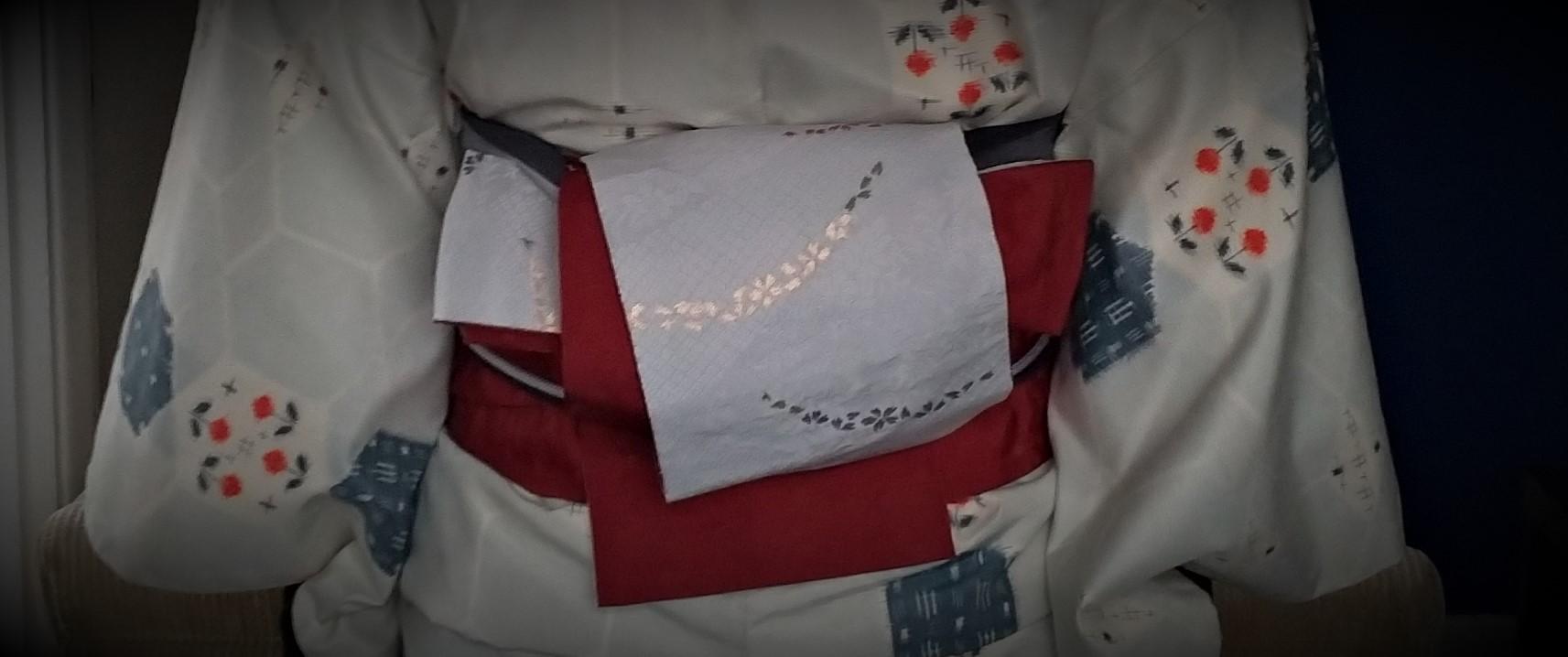 母の紬を着る9