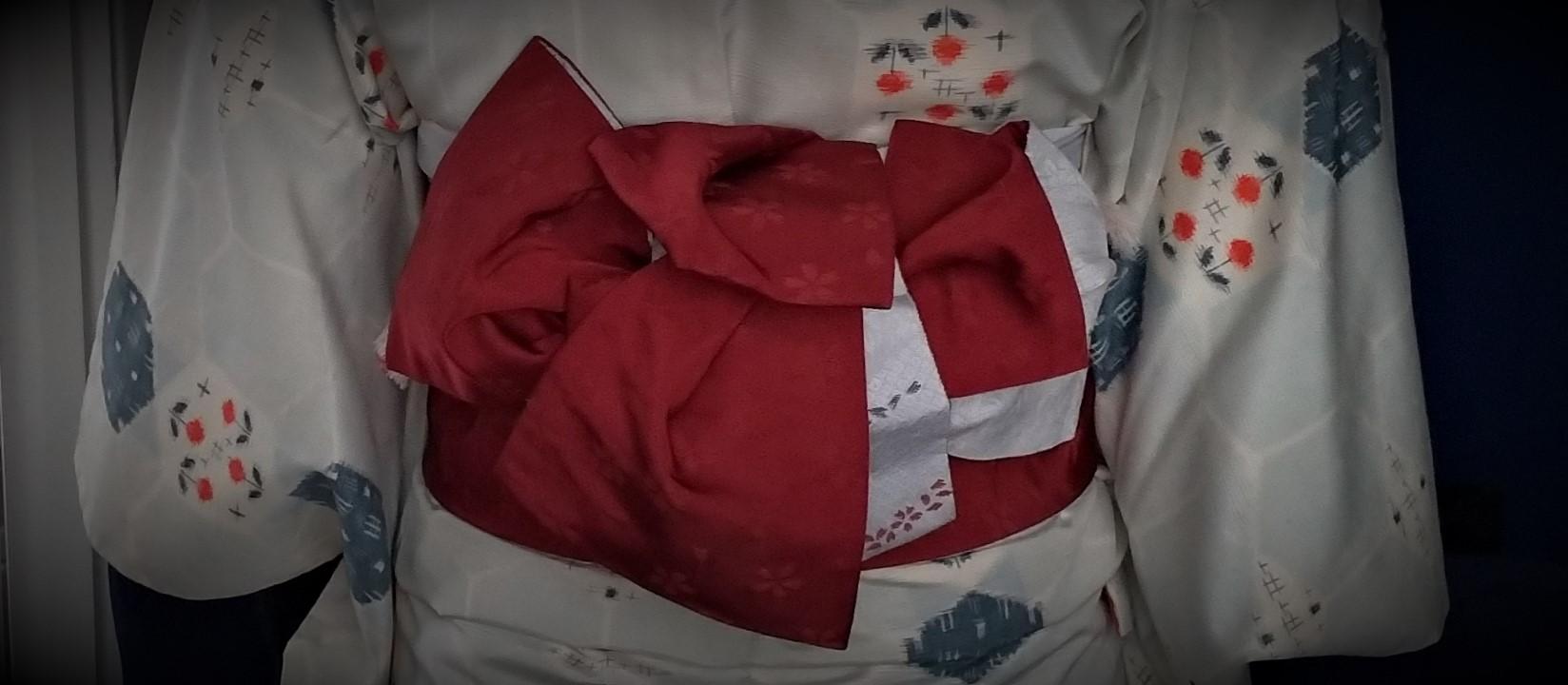 母の紬を着る13